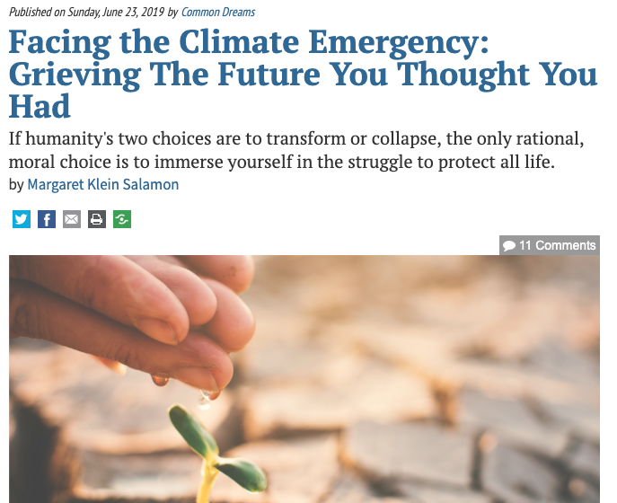 Living in Climate Truth | The Climate Psychologist